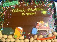 Outback 10 yr cake