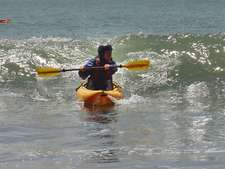 Highlight for Album: Surf Kayaking in Bolinas